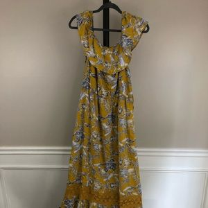 Suzanne Betro Long Dress Women's XL Yellow